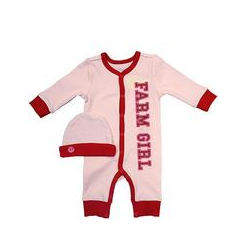 Newborn Farm Girl® Romper & Cap Set