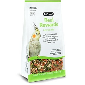 ZuPreem® Real Rewards™ Garden Mix Treats for Medium Birds