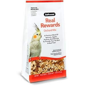 ZuPreem® Real Rewards™ Orchard Mix Treats for Medium Birds