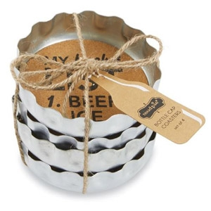 MudPie® Beer Bottle Coasters