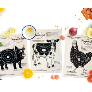 SuckUK™ Tea Towel Targets Farmyard Series