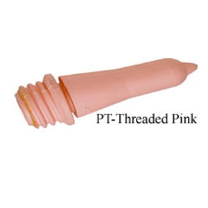 Pink Threaded Peach Teat Calf Nipples & Bottles