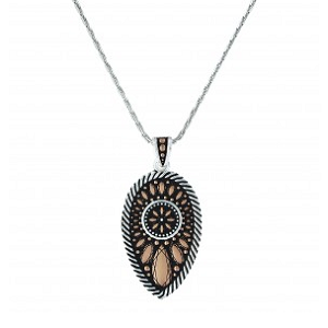 Montana Silversmiths Sunset Prairie Clover Necklace