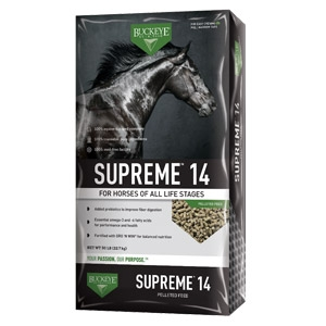 Buckeye® Supreme™ 14% Pelleted Horse Feed