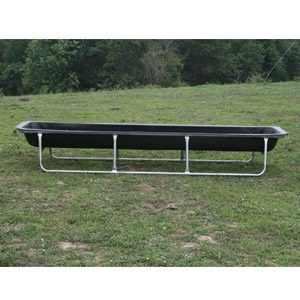 10' Feed Trough with Galvinized Base