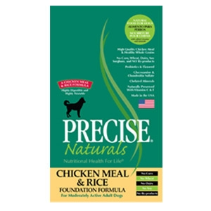 Precise® Naturals Chicken Meal & Rice Foundation Dog Food