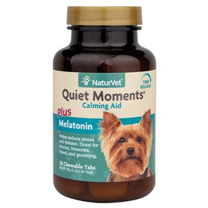 Quiet Moments® Calming Aid Plus Melatonin Tablets for Dogs