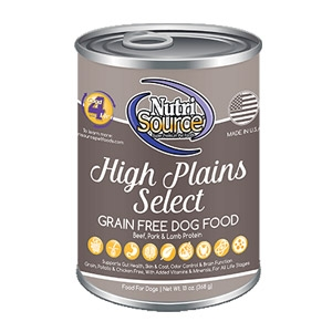 NutriSource High Plains Select GF Canned Dog Food