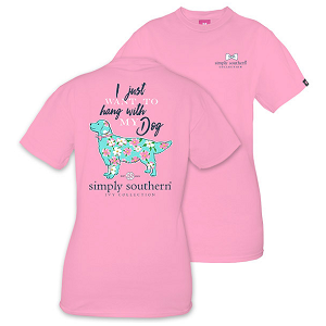Simply Southern - I Just Want to Hang with my Dog Tee