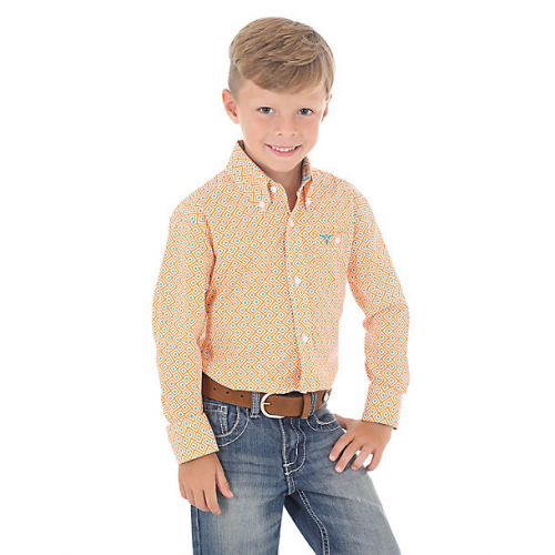 Boy's 20X Advanced Comfort Button-Down Printed Shirt