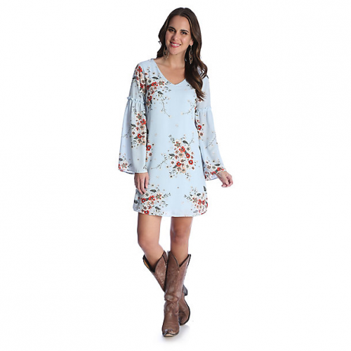 Women's Peasant Sleeve Floral Dress