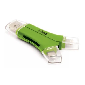 HME 4-IN-1 SD & Micro SD Card Reader