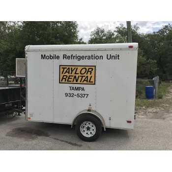 Mobile Refrigeration Trailer, 6 ft x 8 ft