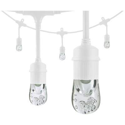 LED Cafe Lights White Cord