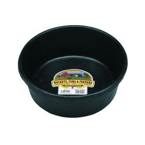 Miller Manufacturing Company 4 Quart Rubber Feed Pan