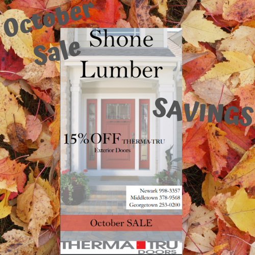 October Sale on Therma-Tru