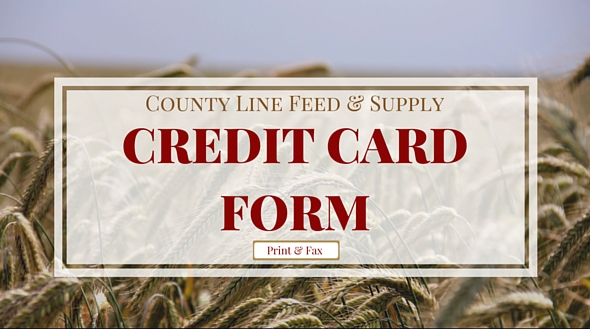 County Line Credit Form