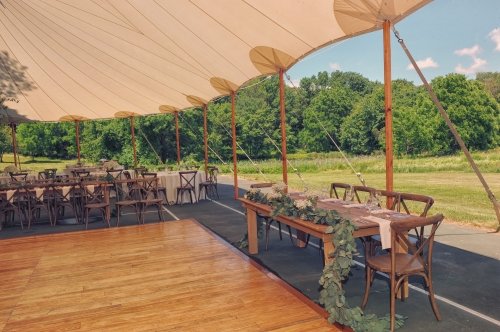 Rustic Tent and Tables