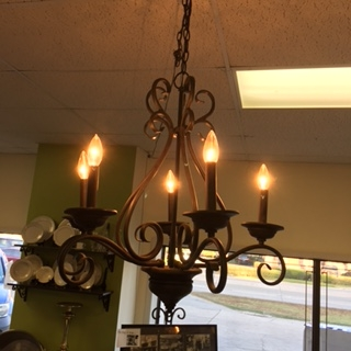 Wrought Iron Chandelier 5 Light