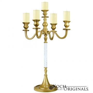 Tabletop Candelabra - 30'' - 5 light - Gold Leaf