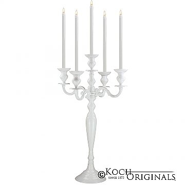 Tabletop Candelabra - 30'' - 5 light - White