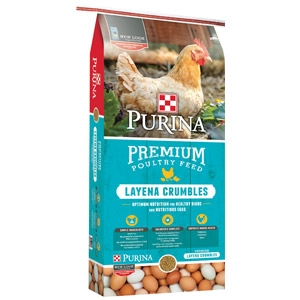 $2 Off Purina 50lb.  Layena Crumbles or Pellets