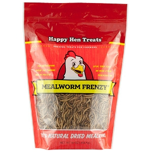 $3 Off Happy Hen Mealworm Frenzy 30 Oz Size