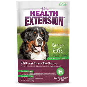 Health Extension Chicken & Brown Rice Large Bites Dog Food