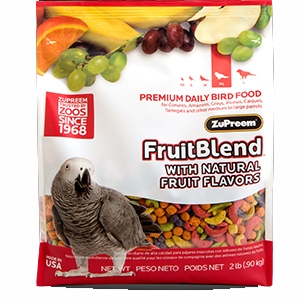 Zupreem Fruit Blend Premium Daily Bird Food for Med/Lg Sized Birds
