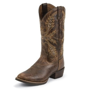 Men's Antique Brown Buffalo Silver Collection Boots