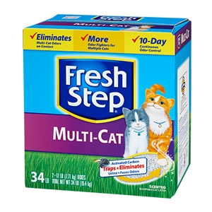Fresh Step® Multi-Cat Scented Scoopable Litter