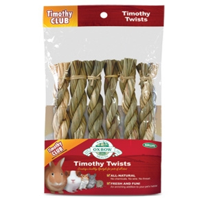 Oxbow Timothy Twists Treat for Small Animals