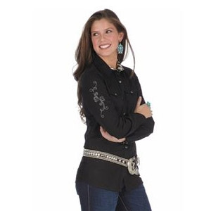 Wrangler® Ultimate Performance Tailored Long Sleeve Ladies Shirt