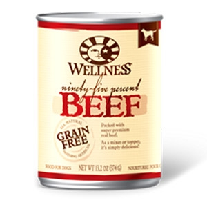 Wellness 95% Beef Recipe Canned Dog Food
