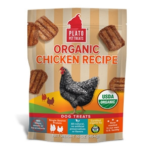 Plato® Organic Chicken Real Strips Dog Treats