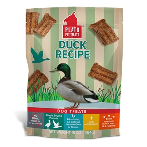 Plato® Duck Real Strips Dog Treats