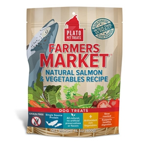 Plato® Farmers Market® Real Strips Salmon & Vegetable Dog Treats