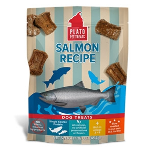 Plato® Salmon Real Strips Dog Treats