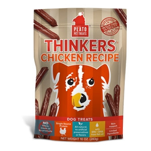 Plato® Chicken Thinkers Dog Treats
