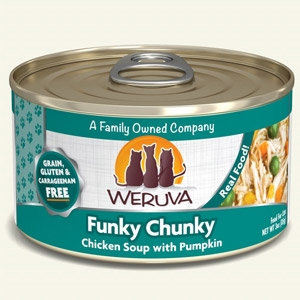 Funky Chunky Chicken Soup with Pumpkin Classic Canned Cat Food 24/3 oz.