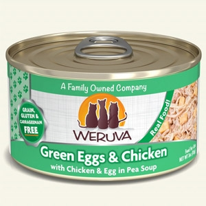 Weruva Green Eggs and Chicken Canned Cat 24/3 oz. and 24/5.5 oz.