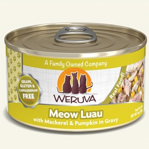 Meow Luau with Mackerel & Pumpkin in Gravy Classic Canned Cat Food 24/5.5 oz.