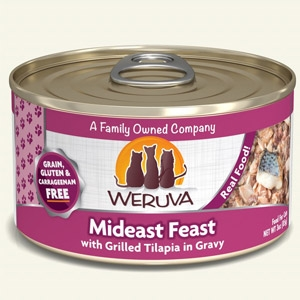 Mideast Feast with Grilled Tilapia in Gravy Classic Canned Cat Food 24/5.5 oz.