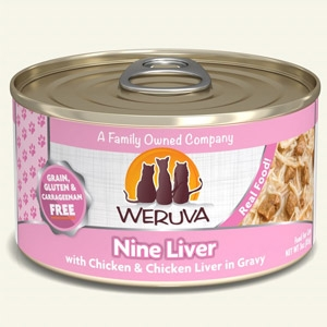 Weruva Nine Liver Canned Cat  5.5 oz.