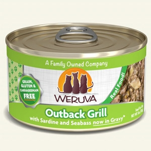 Outback Grill with Sardine and Seabass in Gravy Classic Canned Cat Food 24/3.0 oz.