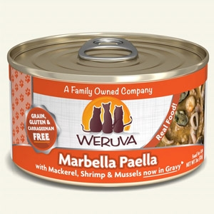 Marbella Paella with Mackerel, Shrimp & Mussels in Gravy Classic Canned Cat Food 24/5.5oz.