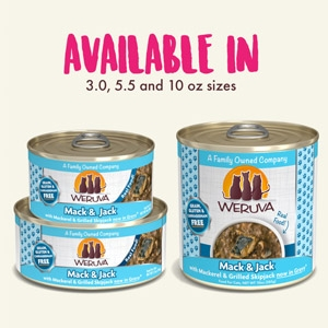 Mack and Jack with Mackerel & Grilled Skipjack in Gravy Classic Canned Cat Food 24/5.5 oz.