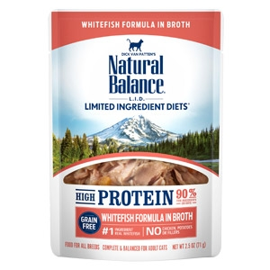 Natural Balance® L.I.D. High Protein Whitefish in Broth Wet Cat Food