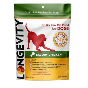 Longevity Savory Chicken Patties for Dogs