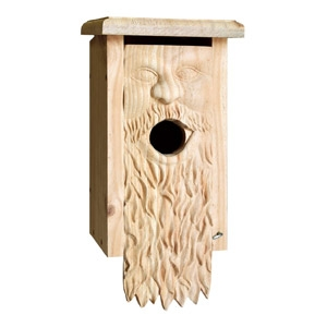 Welliver Outdoors® Carved Bluebird House - Father Time